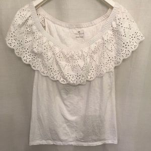 Talbots Off the Shoulder Tank with Eyelet  Ruffle